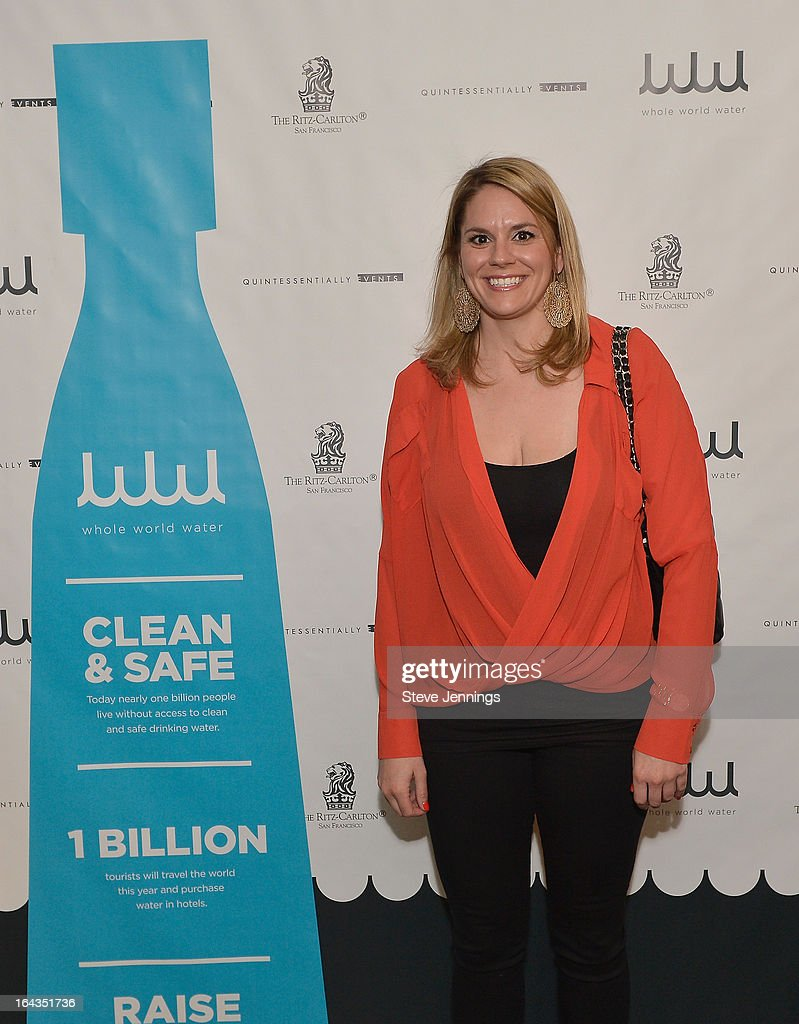 Manager at the Hotel Council of San Francisco Kelly Powers attends the WHOLE WORLD Water launch event at Parallel 37 at The Ritz-Carlton, San Francisco on March 22, 2013 in San Francisco, California.