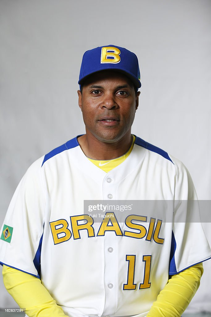 Manager <a gi-track='captionPersonalityLinkClicked' href=/galleries/search?phrase=Barry+Larkin&family=editorial&specificpeople=204522 ng-click='$event.stopPropagation()'>Barry Larkin</a> #11 of Team Brazil poses for a headshot for the 2013 World Baseball Classic at the Kyocera Dome on February 24, 2013 in Osaka, Japan.