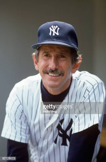 Manager Billy Martin of the New York Yankees poses for a portrait Alfred Manuel Martin played for the Yankees from 195057 and went on to manage the...