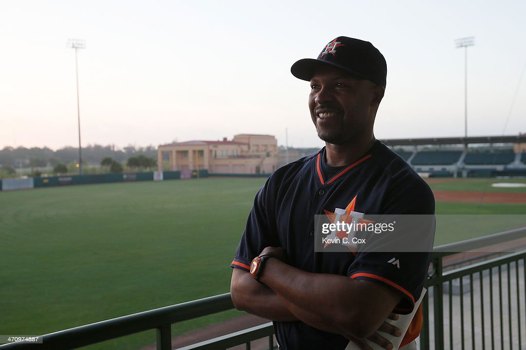 Manager Bo Porter of the Houston Astros waits during photo day on February 21 2014 at Osceola County Stadium in Kissimmee Florida