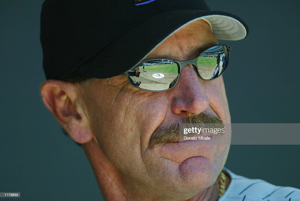Manager Bob Brenly of the Arizona Diamondbacks looks on during the game against the San Diego Padres on July 21, 2002 at Qualcomm Stadium, in San Diego, California.