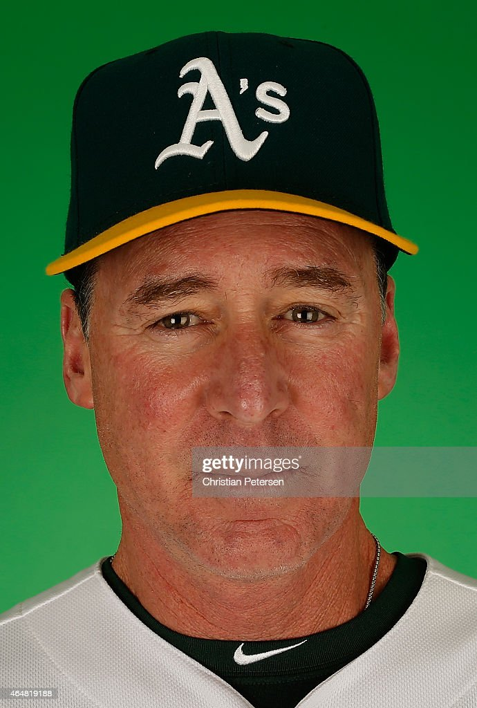 Manager <a gi-track='captionPersonalityLinkClicked' href=/galleries/search?phrase=Bob+Melvin&family=editorial&specificpeople=239192 ng-click='$event.stopPropagation()'>Bob Melvin</a> #6 of the Oakland Athletics poses for a portrait during the spring training photo day at HoHoKam Stadium on February 28, 2015 in Mesa, Arizona.