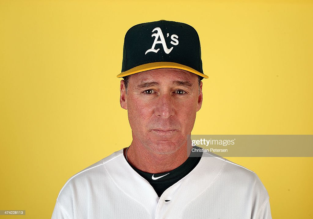 Manager Bob Melvin of the Oakland Athletics poses for a portrait during the spring training photo day at Phoenix Municipal Stadium on February 22, 2014 in Phoenix, Arizona.