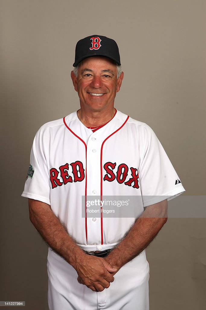 Manager Bobby Valentine (25) of the Boston Red Sox poses during Photo Day on Sunday, February 26, 2012 at JetBlue Park in Fort Myers, Florida.