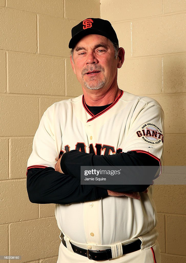 Manager Bruce Bochy #15 poses for a portrait during San Francisco Giants Photo Day on February 20, 2013 in Scottsdale, Arizona.