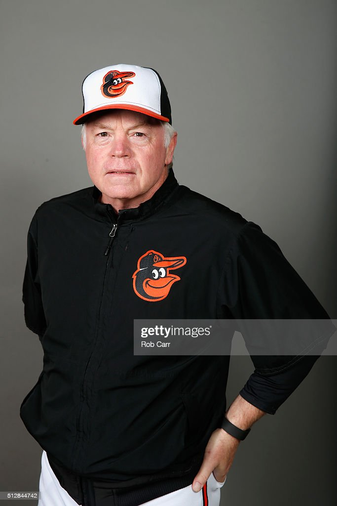 Manager Buck Showalter #26 of the Baltimore Orioles poses during photo day at Ed Smith Stadium on February 28, 2016 in Sarasota, Florida.