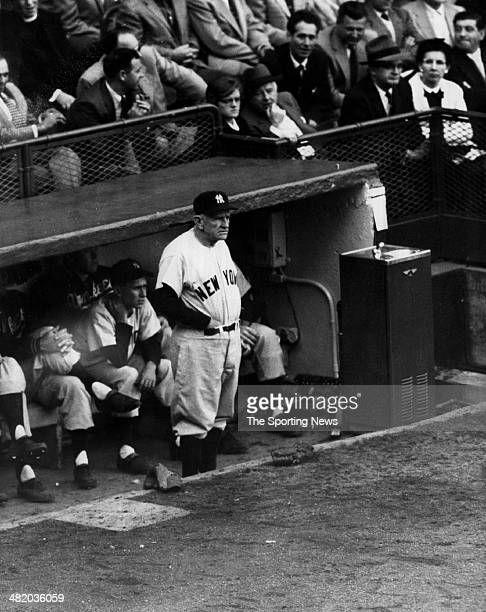 Manager Casey Stengel of the New York Yankees looks on circa 1950s