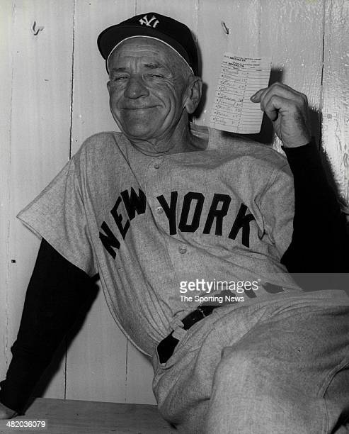 Manager Casey Stengel of the New York Yankees smiles circa 1950s