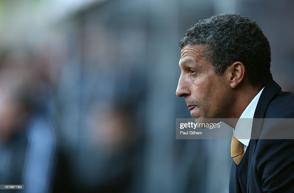 Manager Chris Houghton of Norwich City looks on from the touchline during the Barclays Premier League match between Swansea City and Norwich City at the Liberty Stadium on December 8, 2012 in Swansea, Wales.