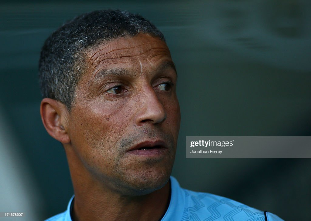 Manager <a gi-track='captionPersonalityLinkClicked' href=/galleries/search?phrase=Chris+Hughton&family=editorial&specificpeople=646349 ng-click='$event.stopPropagation()'>Chris Hughton</a> of Norwich City watches before the match against the Portland Timbers on July 24, 2013 at Jeld-Wen Field in Portland, Oregon.
