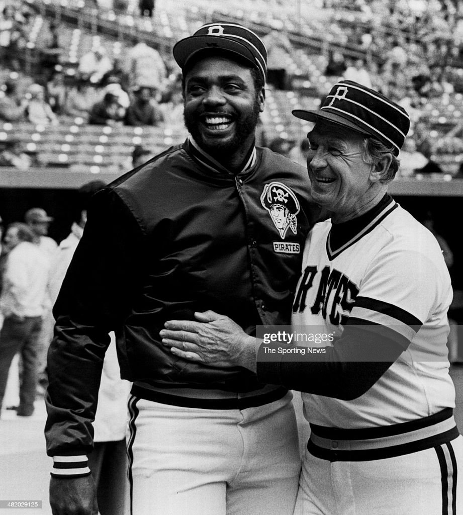 Manager Chuck Tanner and Dave parker of the Pittsburgh Pirates joke circa 1970s