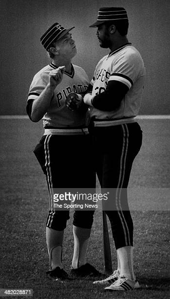 Manager Chuck Tanner and Dave Parker of the Pittsburgh Pirates talk circa 1970s