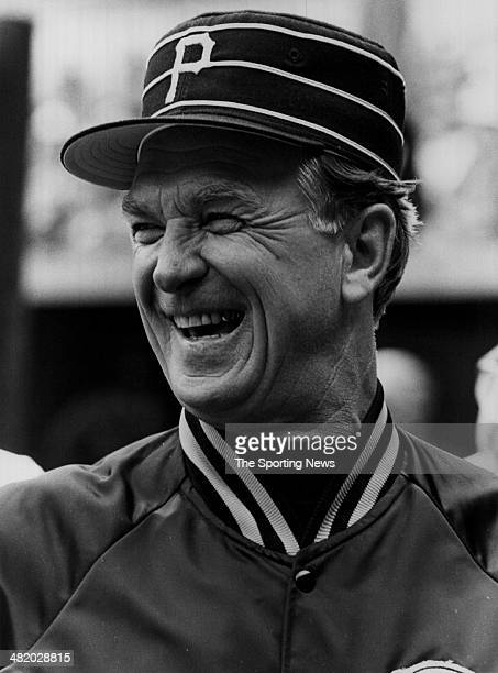 Manager Chuck Tanner of the Pittsburgh Pirates laughs circa 1970s