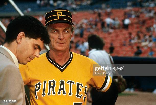 Manager Chuck Tanner of the Pittsburgh Pirates looks on before an Major League Baseball game against the New York Mets circa 1981 at Shea Stadium in...
