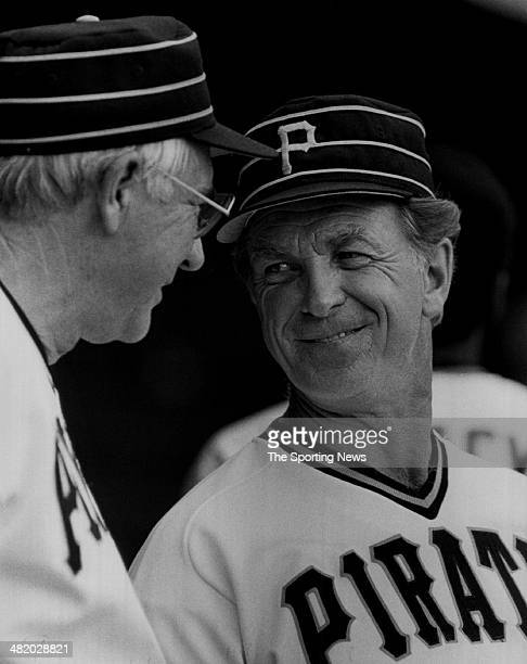 Manager Chuck Tanner of the Pittsburgh Pirates talks circa 1970s