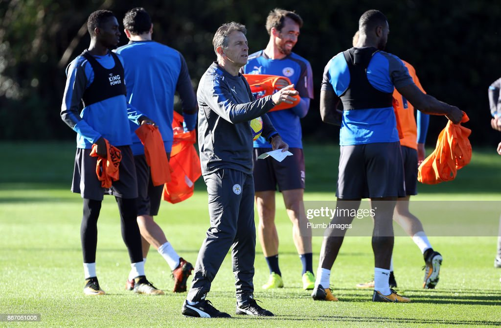 Manager Claude Puel during the Leicester City training session at Belvoir Drive Training Complex on October 27 , 2017 in Leicester, United Kingdom.