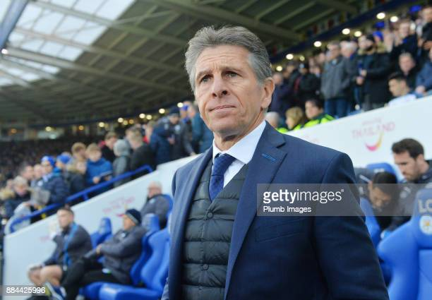 Manager Claude Puel of Leicester City during the Premier League match between Leicester City and Burnley at King Power Stadium on December 2nd 2017...