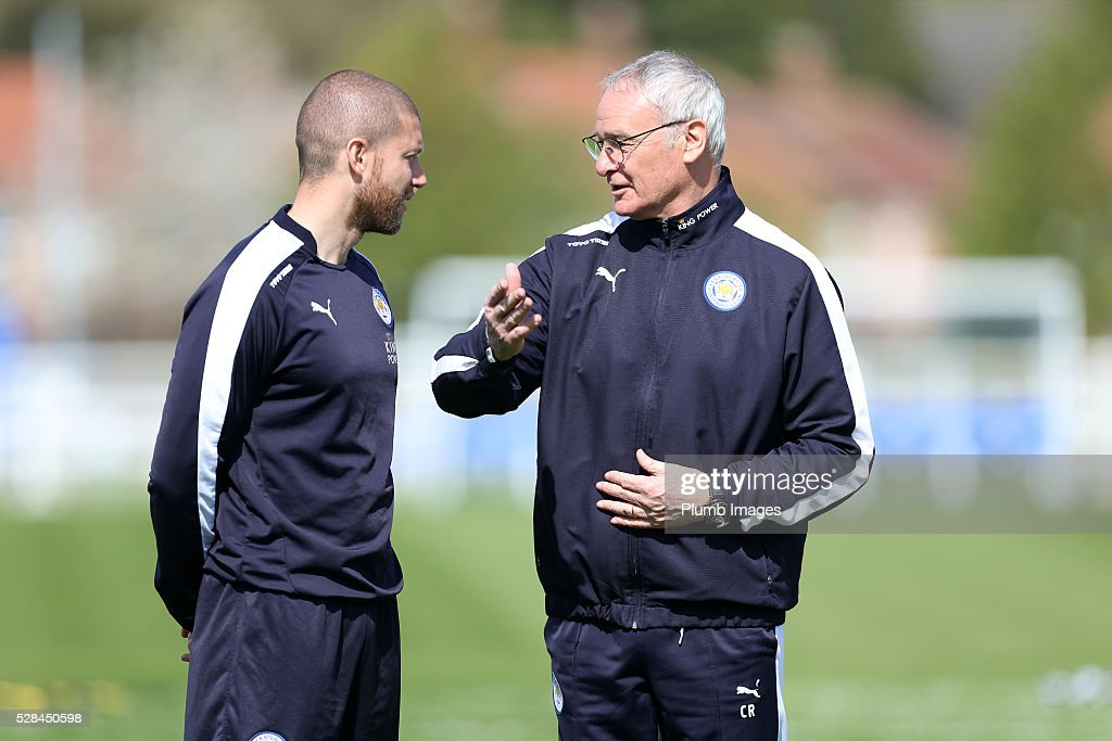 Manager Claudio Ranieri during the Leicester City training session at Belvoir Drive Training Complex on May 05, 2016 in Leicester, United Kingdom.