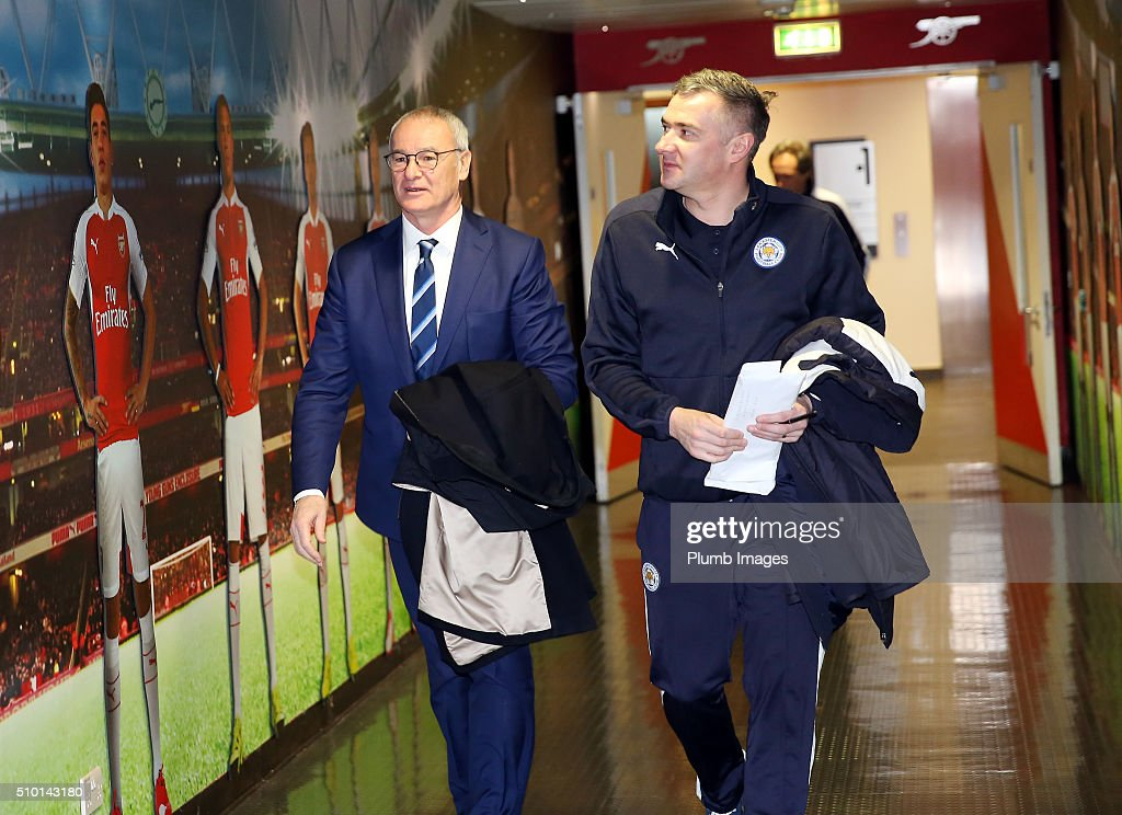 Manager <a gi-track='captionPersonalityLinkClicked' href=/galleries/search?phrase=Claudio+Ranieri&family=editorial&specificpeople=204468 ng-click='$event.stopPropagation()'>Claudio Ranieri</a> of Leicester City arrives at Emirates Stadium ahead of the Barclays Premier League match between Arsenal and Leicester City at Emirates Stadium on February 14, 2016 in London, United Kingdom.