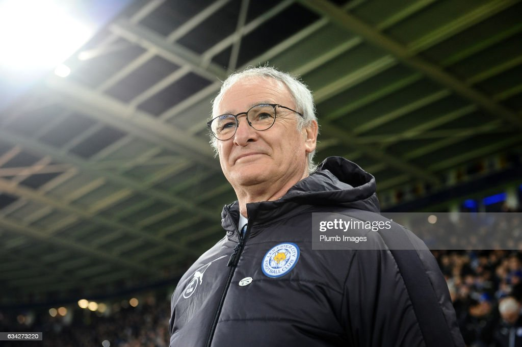 Manager Claudio Ranieri of Leicester City at King Power Stadium ahead of the Emirates FA Cup Fourth Round Replay match between Leicester City and Derby County at King Power Stadium on February 08 , 2017 in Leicester, United Kingdom.