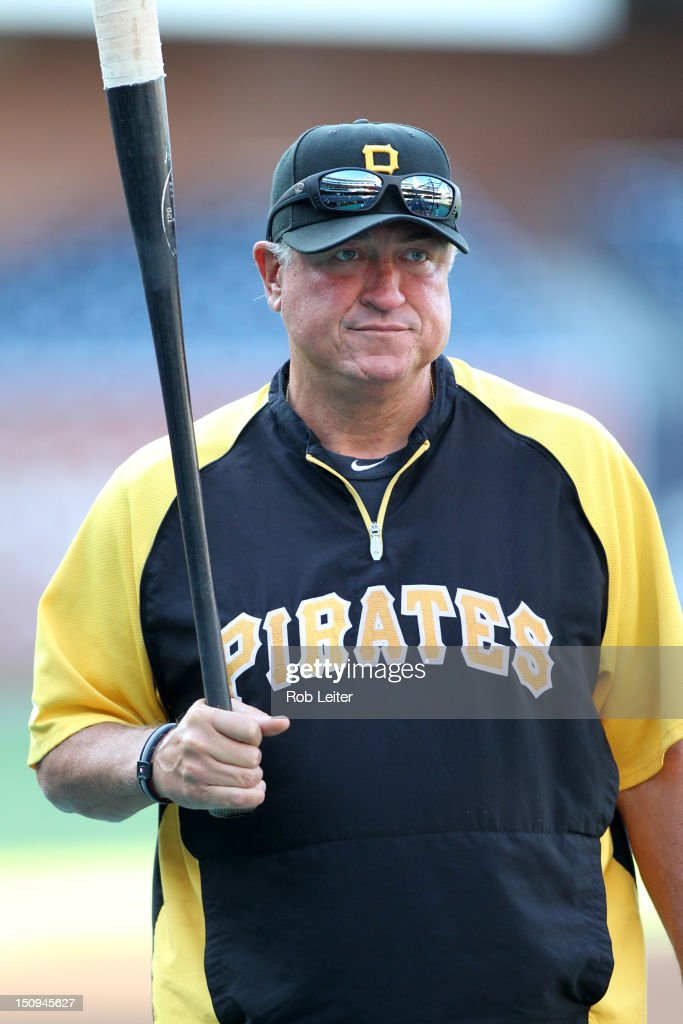 Manager Clint Hurdle #13 of the Pittsburgh Pirates looks on before the game against the San Diego Padres at Petco Park on August 21, 2012 in San Diego, California. The Padres defeated the Pirates 7-5.