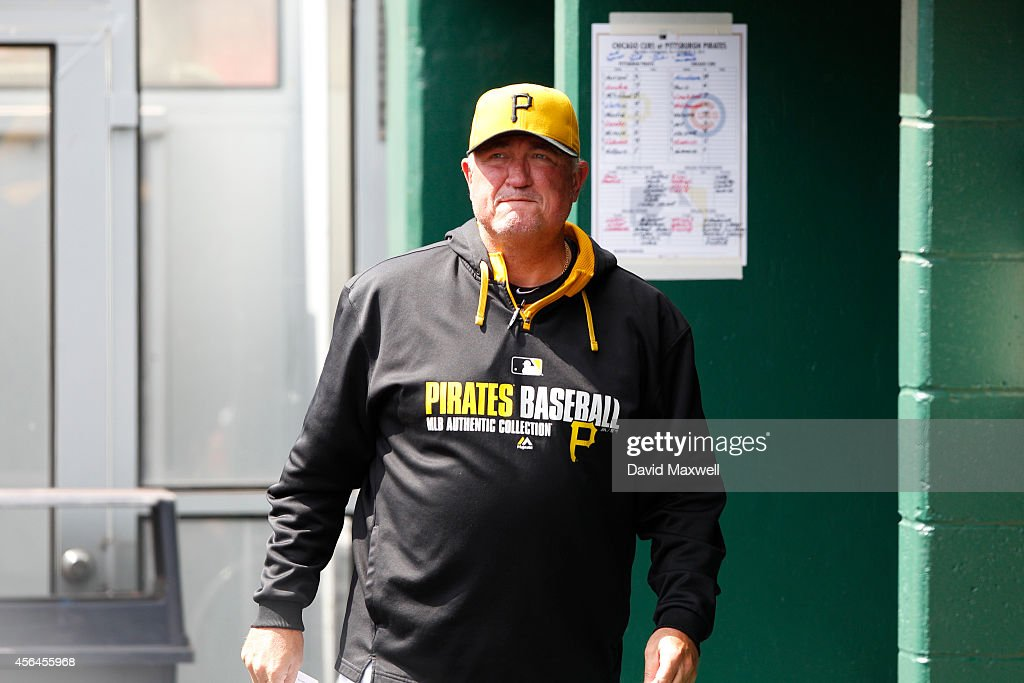 Manager Clint Hurdle of the Pittsburgh Pirates paces the dugout before the start of the game against the Chicago Cubs on September 14 2014 at PNC...