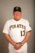 Manager Clint Hurdle of the Pittsburgh Pirates poses during Photo Day on Friday February 21 2014 at McKechnie Field in Bradenton Florida