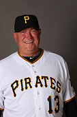 Manager Clint Hurdle of the Pittsburgh Pirates poses for a portrait on photo day on February 26 2015 at Pirate City in Bradenton Florida