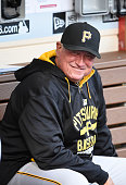 Manager Clint Hurdle of the Pittsburgh Pirates sits in the dugout before a baseball game against the San Diego Padres at Petco Park May 28 2015 in...
