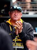 Manager Clint Hurdle of the Pittsburgh Pirates stands in the dugout during their game against the San Francisco Giants at ATT Park on June 3 2015 in...