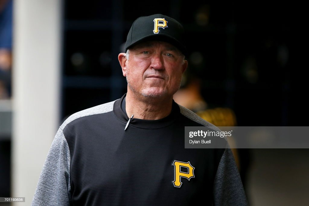 Manager Clint Hurdle walks through the dugout in the second inning against the Milwaukee Brewers at Miller Park on June 22, 2017 in Milwaukee, Wisconsin.