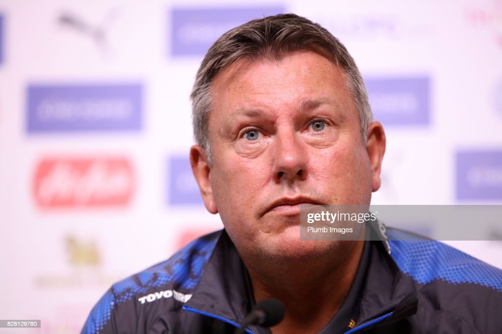 Manager Craig Shakespeare during the Leicester City press conference at Belvoir Drive Training Complex on August 09 , 2017 in Leicester, United Kingdom.