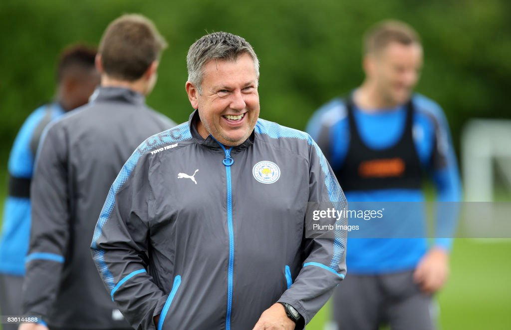 Manager Craig Shakespeare during the Leicester City training session at Belvoir Drive Training Complex on August 21 , 2017 in Leicester, United Kingdom.