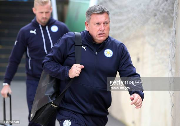 Manager Craig Shakespeare of Leicester City arrives at Selhurst Park ahead of the Premier League match between Crystal Palace and Leicester City on...