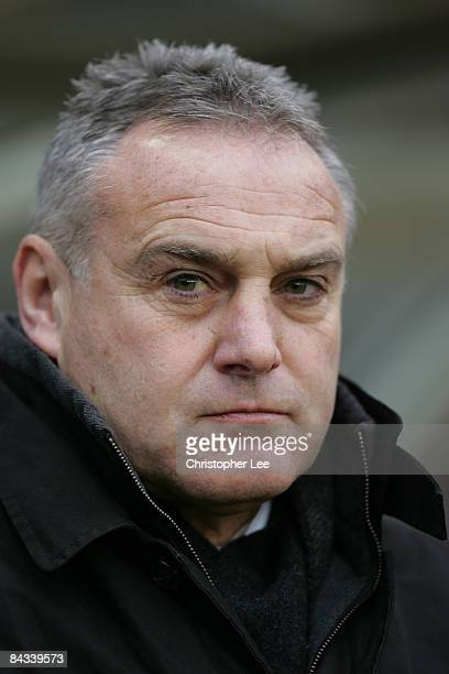 Manager Dave Jones of Cardiff City during the CocaCola Championship match between Birmingham City and Cardiff City at St Andrews on January 17 2009...