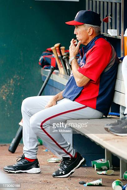 Manager Davey Johnson of the Washington Nationals looks on against the New York Mets at Citi Field on June 30 2013 in the Flushing neighborhood of...