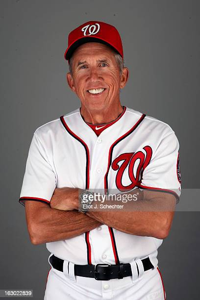 Manager Davey Johnson of the Washington Nationals poses during Photo Day on February 20 2013 at Space Coast Stadium in Viera Florida