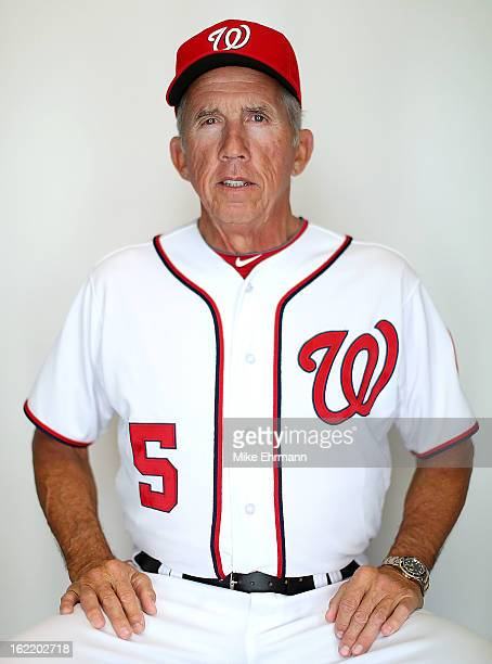 Manager Davey Johnson of the Washington Nationals poses for a portrait during photo day at Space Coast Stadium on February 20 2013 in Viera Florida