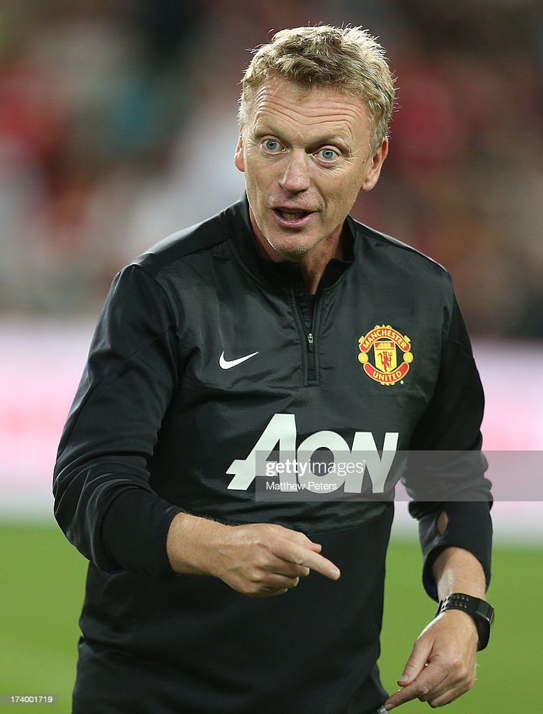 Manager David Moyes of Manchester United in action during a first team training session as part of their pre-season tour of Bangkok, Australia, China, Japan and Hong Kong on July 19, 2013 in Sydney, Australia.