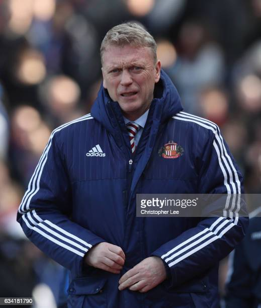 Manager David Moyes of Sunderland during the Premier League match between Crystal Palace and Sunderland at Selhurst Park on February 4 2017 in London...
