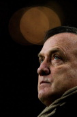 Manager Dick Advocaat looks on prior to the Eredivisie match between Ajax Amsterdam and PSV Eindhoven at Amsterdam Arena on December 1 2012 in...