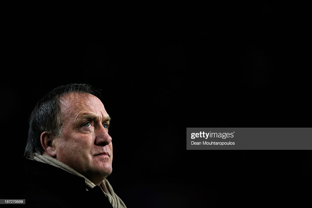 Manager, Dick Advocaat looks on prior to the Eredivisie match between Ajax Amsterdam and PSV Eindhoven at Amsterdam Arena on December 1, 2012 in Amsterdam, Netherlands.