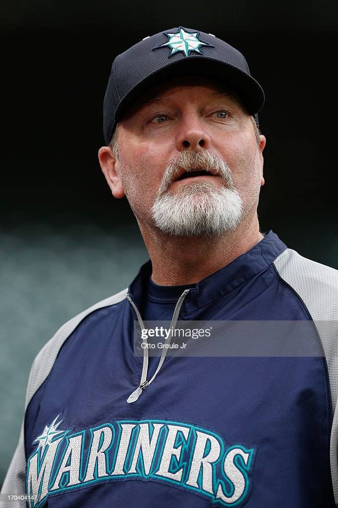 Manager <a gi-track='captionPersonalityLinkClicked' href=/galleries/search?phrase=Eric+Wedge&family=editorial&specificpeople=214257 ng-click='$event.stopPropagation()'>Eric Wedge</a> #22 of the Seattle Mariners looks on prior to the game against the New York Yankees at Safeco Field on June 7, 2013 in Seattle, Washington.