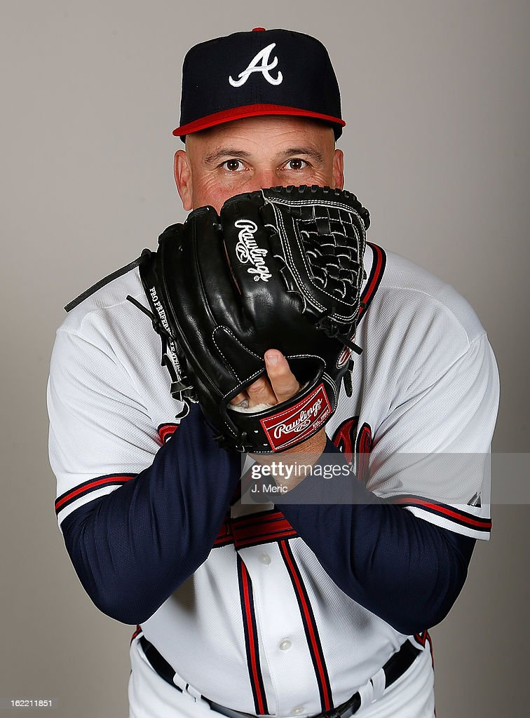 Manager <a gi-track='captionPersonalityLinkClicked' href=/galleries/search?phrase=Fredi+Gonzalez&family=editorial&specificpeople=686896 ng-click='$event.stopPropagation()'>Fredi Gonzalez</a> #33 of the Atlanta Braves poses for a photo during photo day at Champion Stadium at the ESPN Wide World of Sports Complex at Walt Disney World on February 20, 2013 in Lake Buena Vista, Florida.