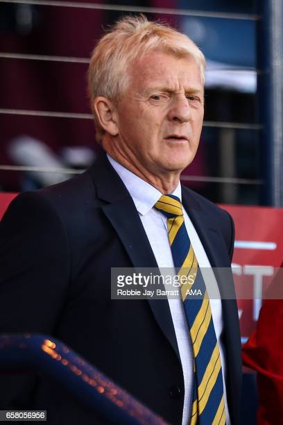 Manager Gordan Strachan of Scotland looks on during the FIFA 2018 World Cup Qualifier between Scotland and Slovenia at Hampden Park on March 26 2017...