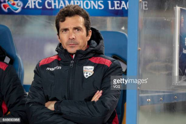 Manager Guillermo Amor of Adelaide United in action during the AFC Champions League 2017 Group H match between Jiangsu Suning and Adelaide United at...