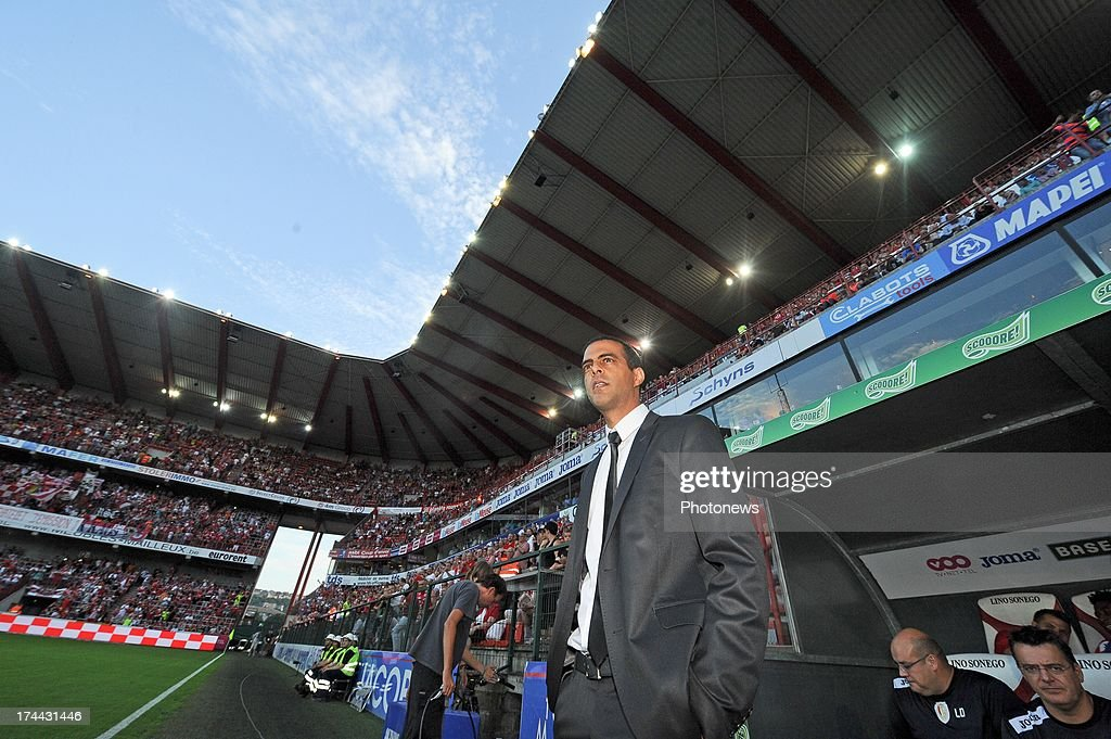 Manager Guy Luzon of Standard de Liege watches the action from the sideline during a Europa League match against KR Reykjavik on July 25 , 2013 in Liege, Belgium.