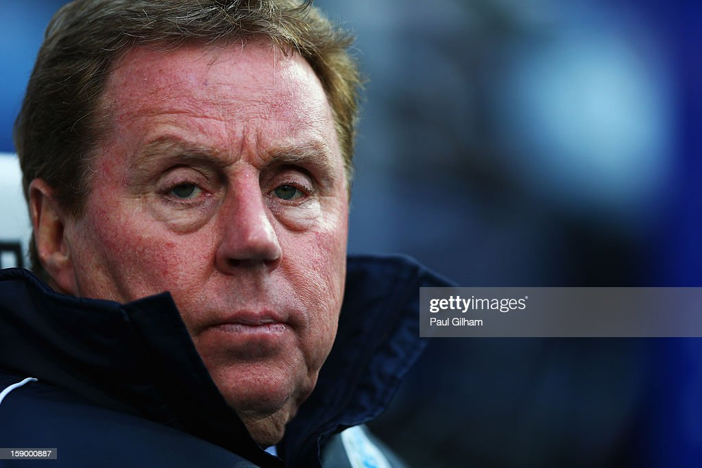Manager <a gi-track='captionPersonalityLinkClicked' href=/galleries/search?phrase=Harry+Redknapp&family=editorial&specificpeople=204768 ng-click='$event.stopPropagation()'>Harry Redknapp</a> of Queens Park Rangers looks on during the FA Cup with Budweiser Third Round match between Queens Park Rangers and West Bromwich Albion at Loftus Road on January 5, 2013 in London, England.