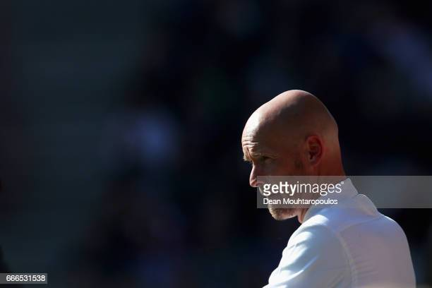 Manager / Head Coach of FC Utrecht Erik ten Hag looks on during the Dutch Eredivisie match between FC Utrecht and FC Twente at Stadion Galgenwaard on...