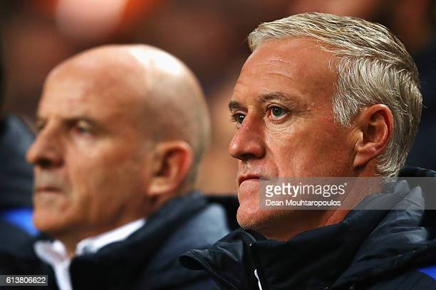 Manager / Head Coach of France Didier Deschamps looks on during the FIFA 2018 World Cup Qualifier between Netherlands and France held at Amsterdam...
